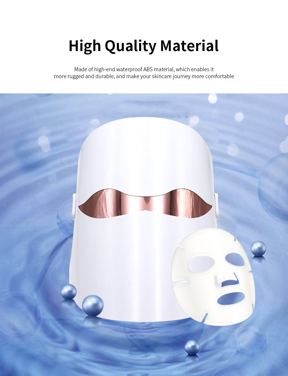 Spectrum Skin Care Mask 32 LED Face Mask with Triple Spectrum Technology for Skin Care Anti Aging Skin Tightening 5