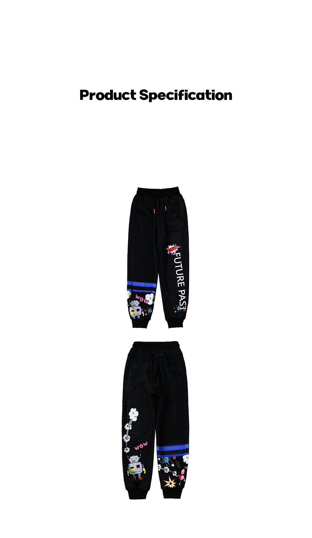 ZVBV 2020 New Style Harem Pants for Women Wear Black Loose Harem Trousers Printed Letter Pattern Sweatpants 12