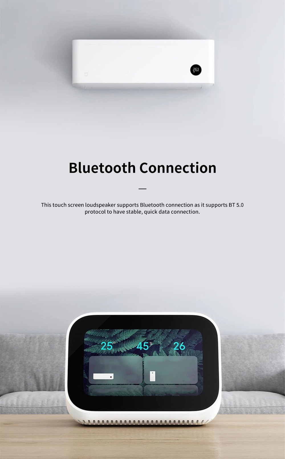 XIAOMI Touch Screen Loudspeaker for Family Use Intelligent Wireless Baffle Box Bluetooth Connection Sound Box 8