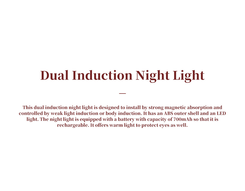 Dual Induction Night Light for Family Aisle Wardrobe Strong Magnetic Nail Free Night Lamp Body Induction Eye Protective Lamp 0