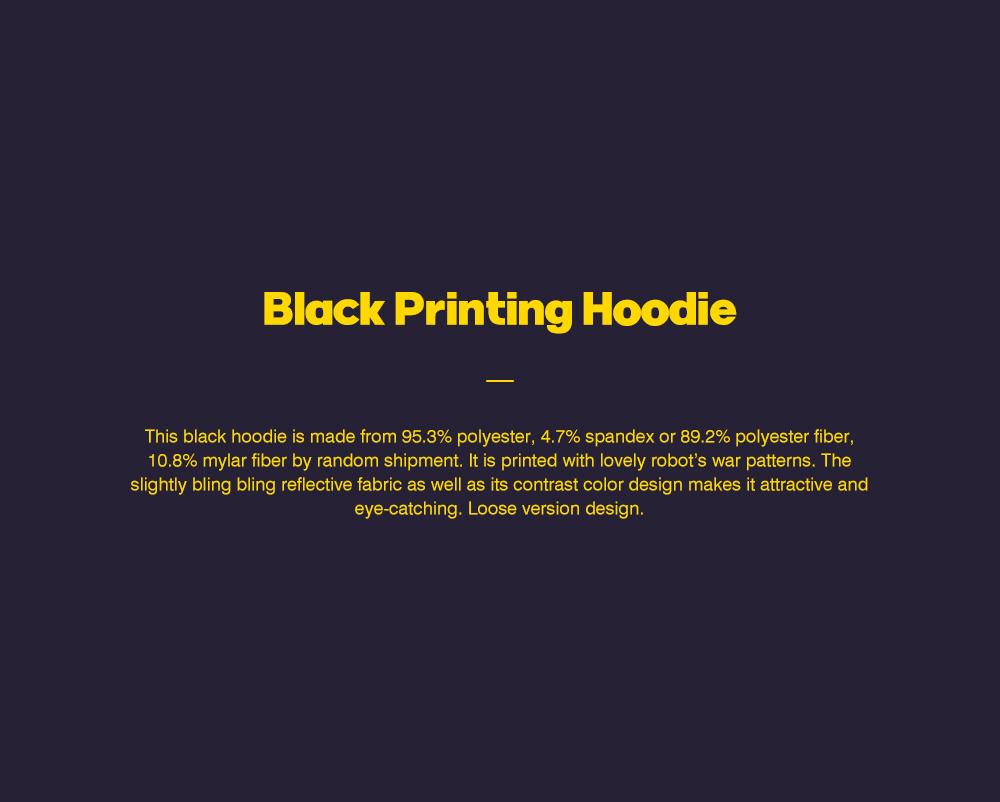ZVBV European Style Spring Hoodie Fashionable Printing Hoodie Loose Top Coat Long Sleeve Contrast Cover Hoodie 0