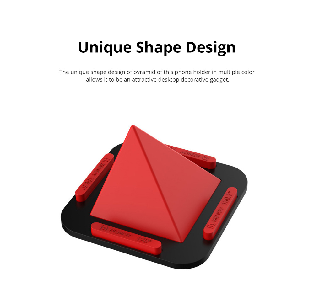 Pyramid Phone Holder Desktop Universal Silicone iPhone X Support Lazy Man Shatter-resistant Phone Stand 4