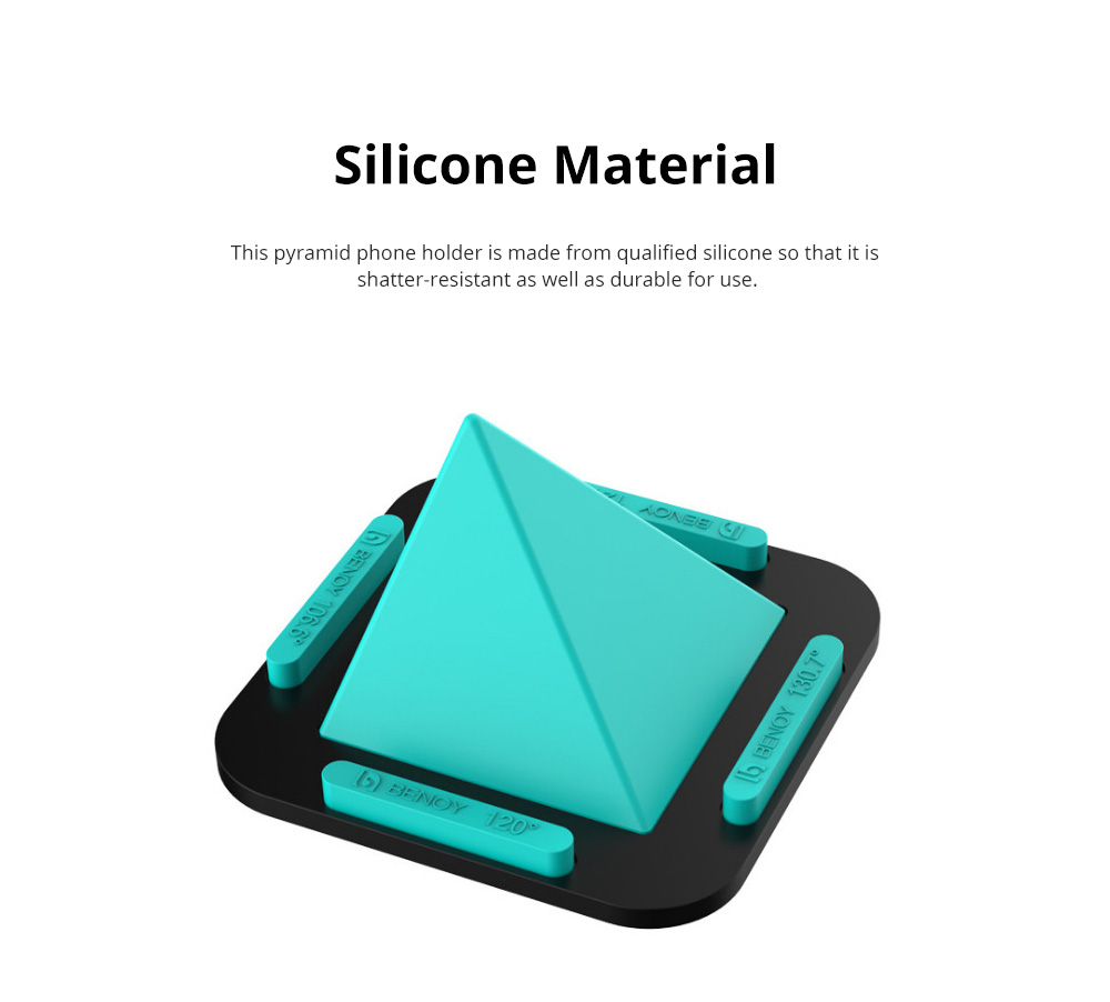 Pyramid Phone Holder Desktop Universal Silicone iPhone X Support Lazy Man Shatter-resistant Phone Stand 3