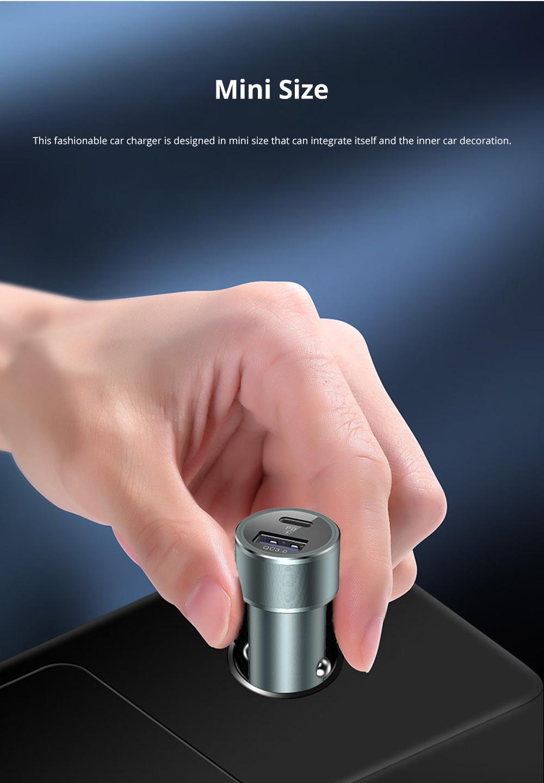 Vissko Quick Charging Dual QC 3.0 Car Charger Mini Aluminum Alloy Car Charger USB Quick Charge Cigarette Lighter 5