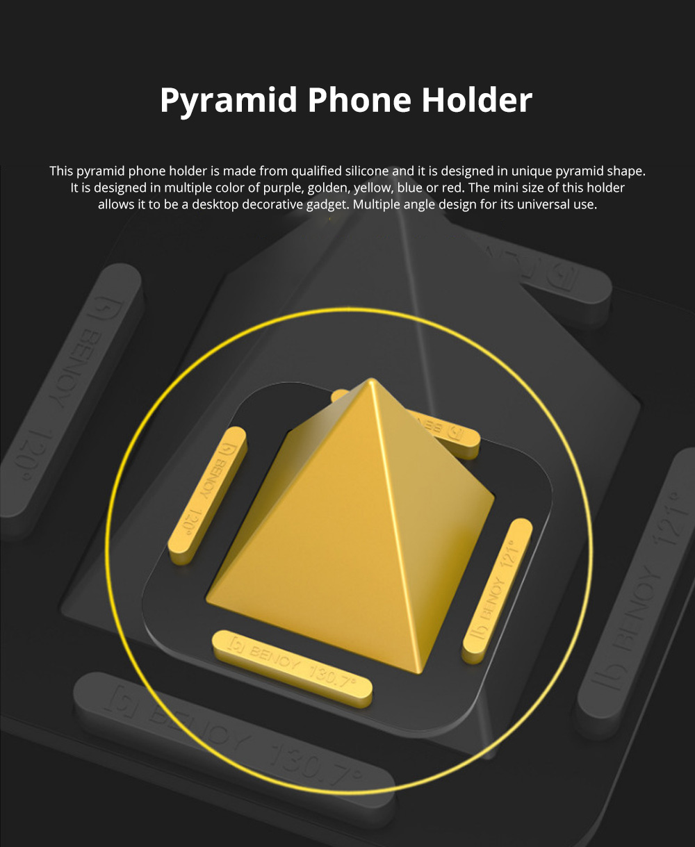 Pyramid Phone Holder Desktop Universal Silicone iPhone X Support Lazy Man Shatter-resistant Phone Stand 0