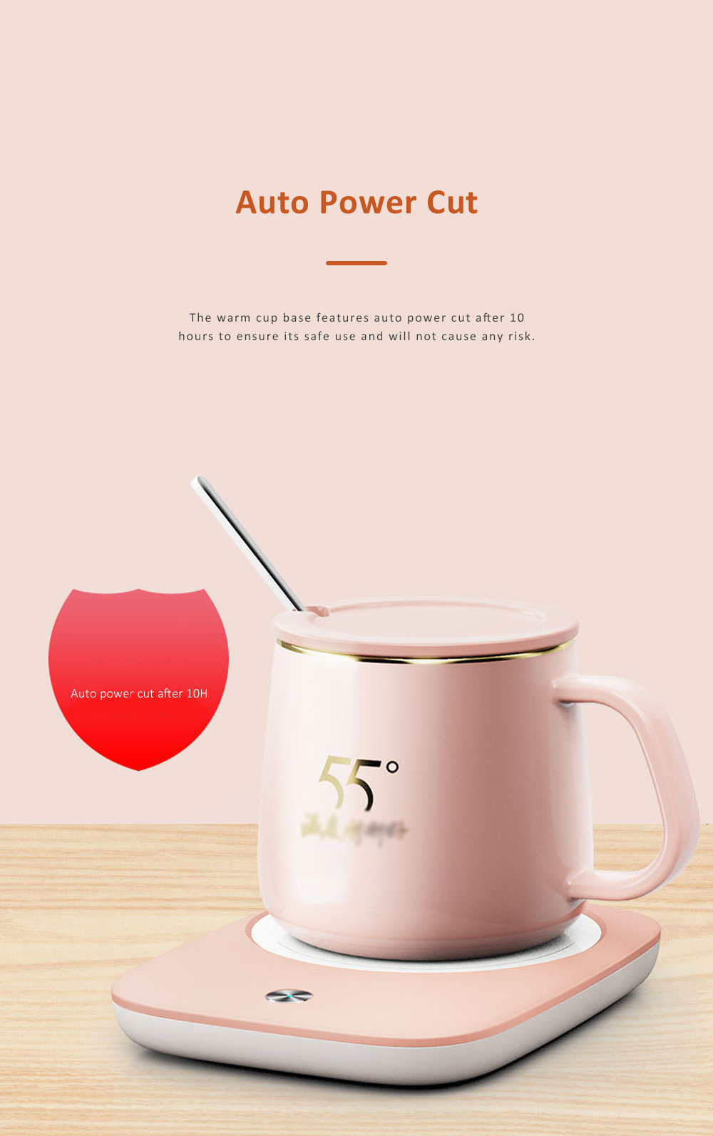 Electric Heating Ceramic Coffee Mug Warm Cup with Auto Temperature-lock Base Quick Heating Water Cup Best Gift 8