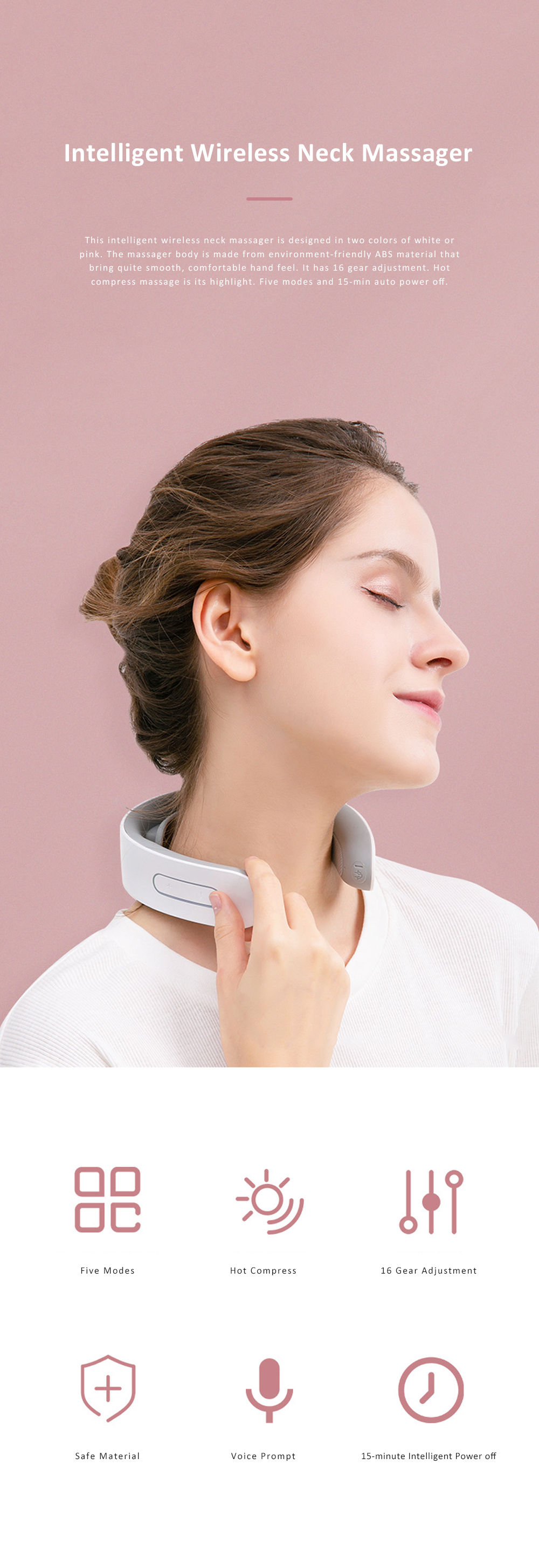 KONKA Multifunctional Neck Massager for Neck Relaxation Intelligent Wireless Neck Guard Instrument Electronic Hot Compress Neck Massager 0