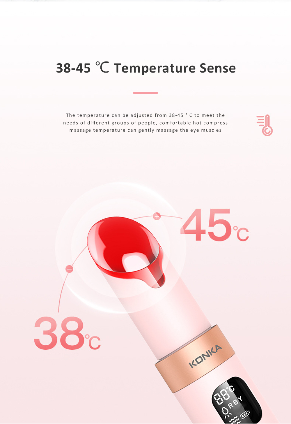 Personal Skin Care Beauty Equipment USB Vibration Facial Eye Massager Modes Eye Care Heat Functions Rechargeable 2