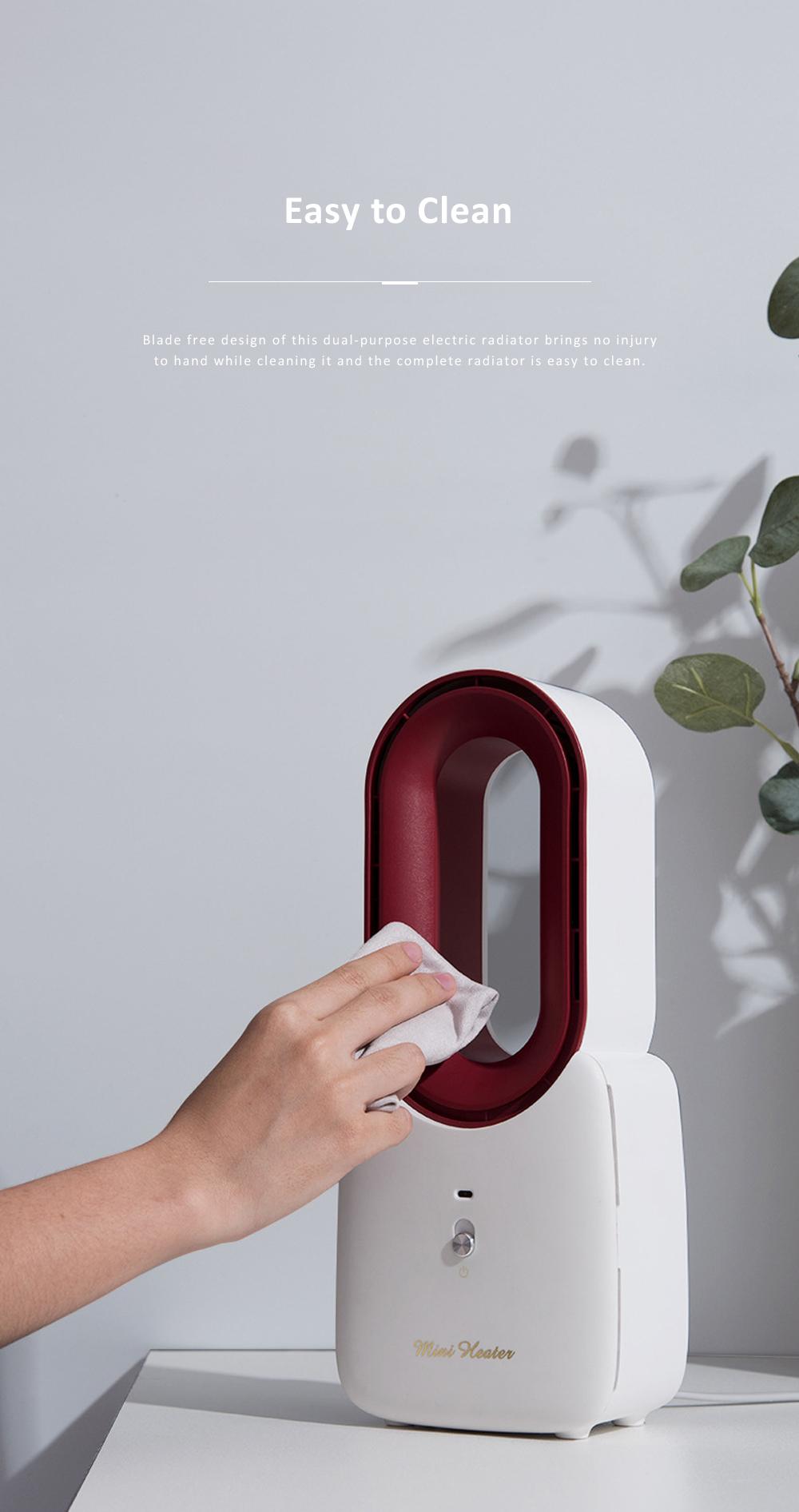 Home Office Desktop Heater for Energy-saving Mini Warmer Blade Free Dual-purpose Electric Radiator 10