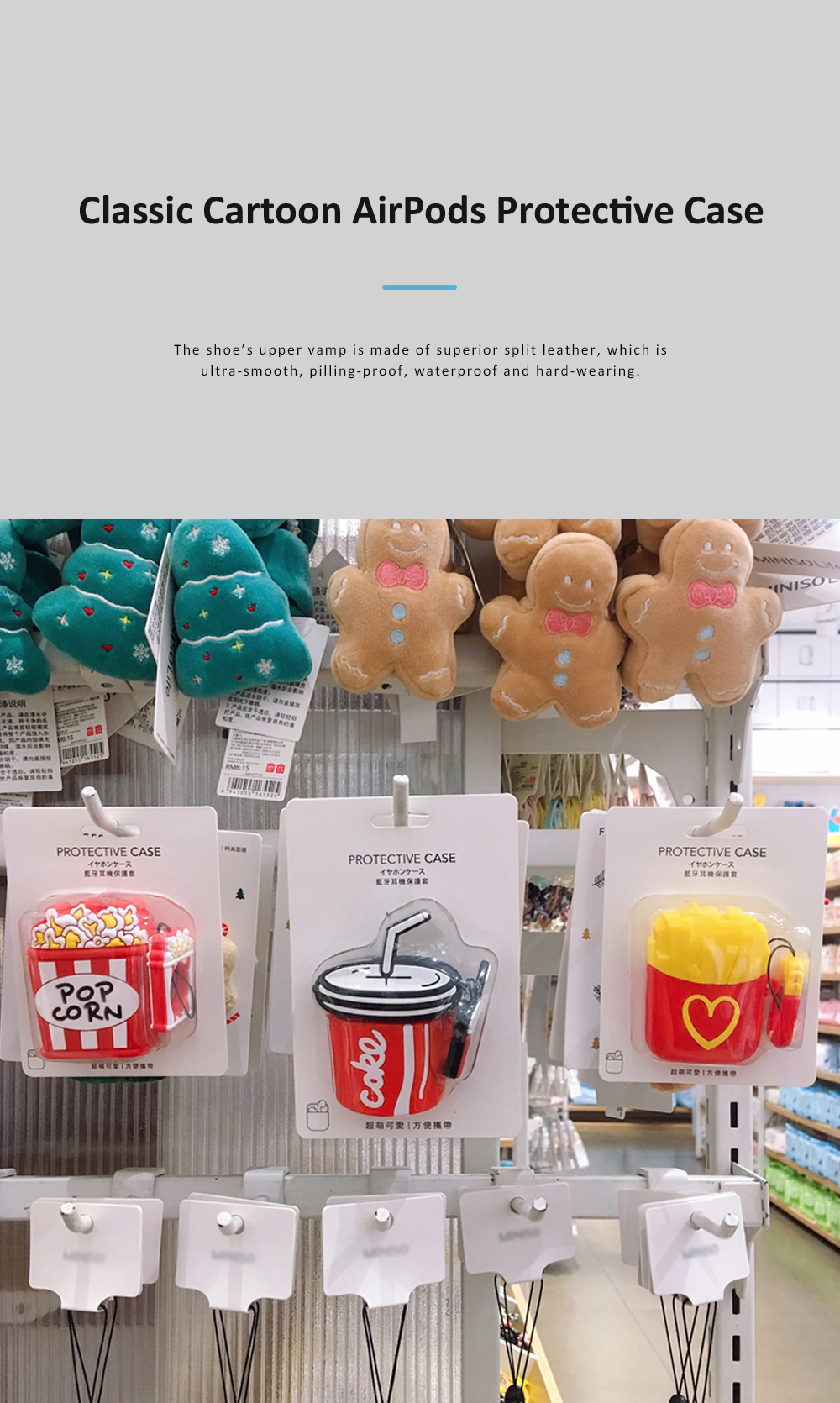 Classic Cartoon Coke Chips Popcorn Environmentally-friendly PP AirPods Protective Case with Lovely Ring 0