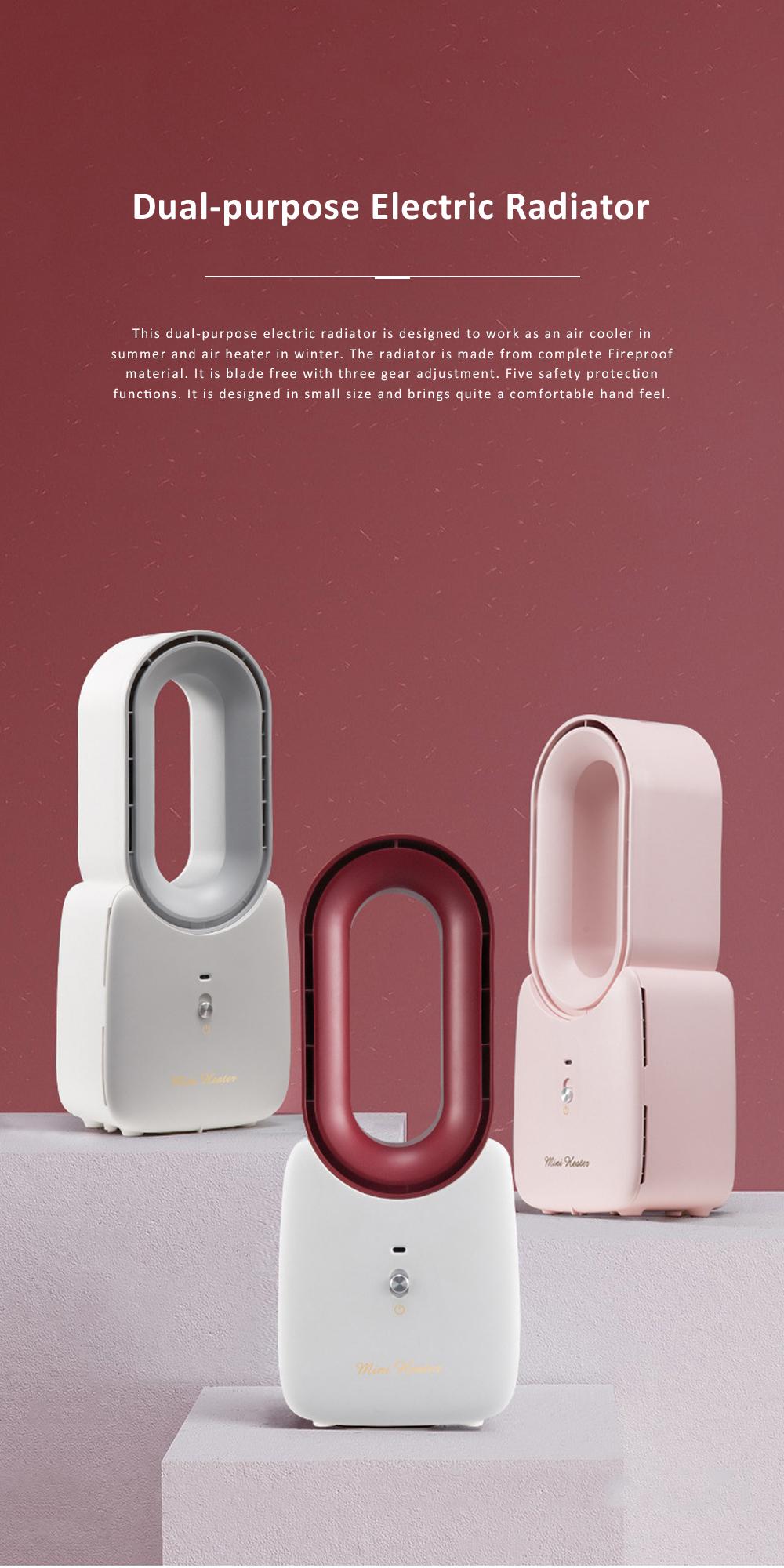 Home Office Desktop Heater for Energy-saving Mini Warmer Blade Free Dual-purpose Electric Radiator 0