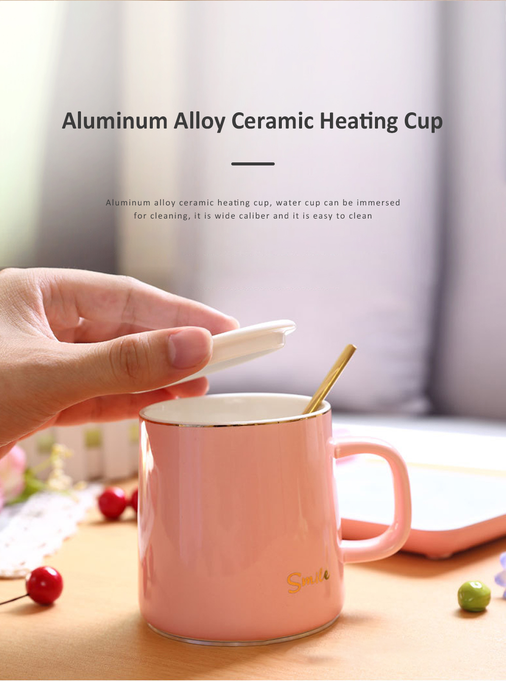 55 Degree Intelligent Thermostat Coaster Smart Insulation Office Heating Mat Warmer Milk Warmer Cup Gift With Delicate Box Valentine Gift 7
