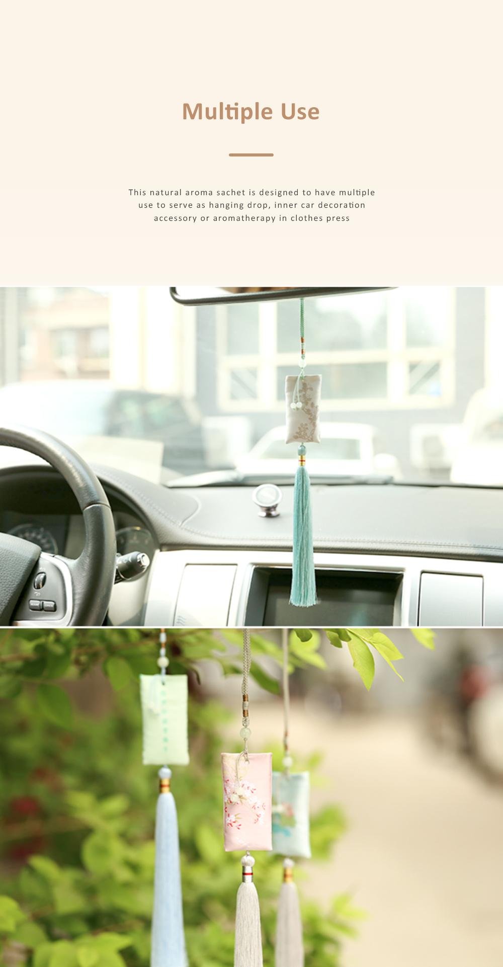Natural Aroma Sachet for Gift Choice Car Decoration Floral and Plants Series Sachet Durable Natural Perfume Sachet 4