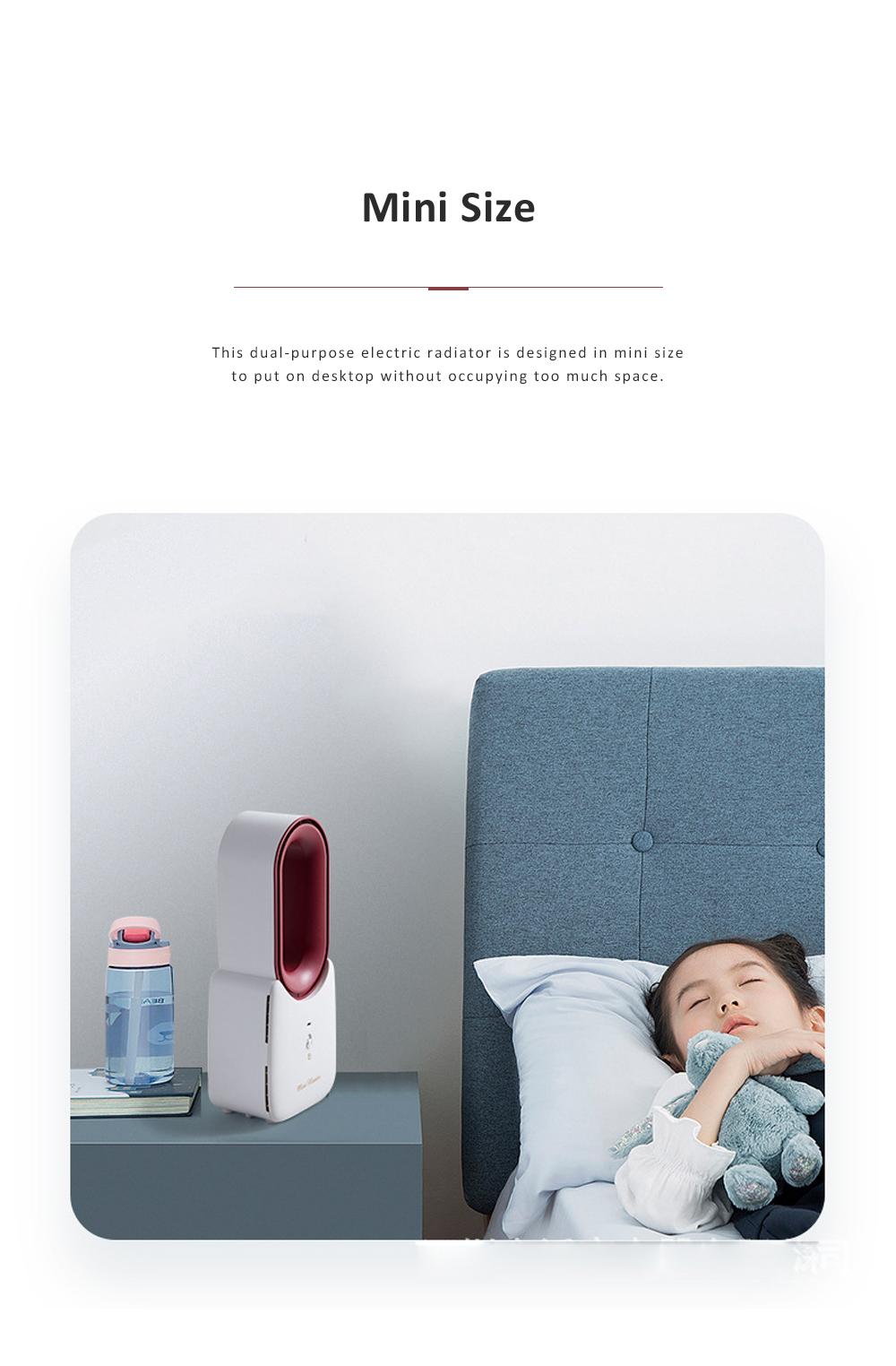Home Office Desktop Heater for Energy-saving Mini Warmer Blade Free Dual-purpose Electric Radiator 11