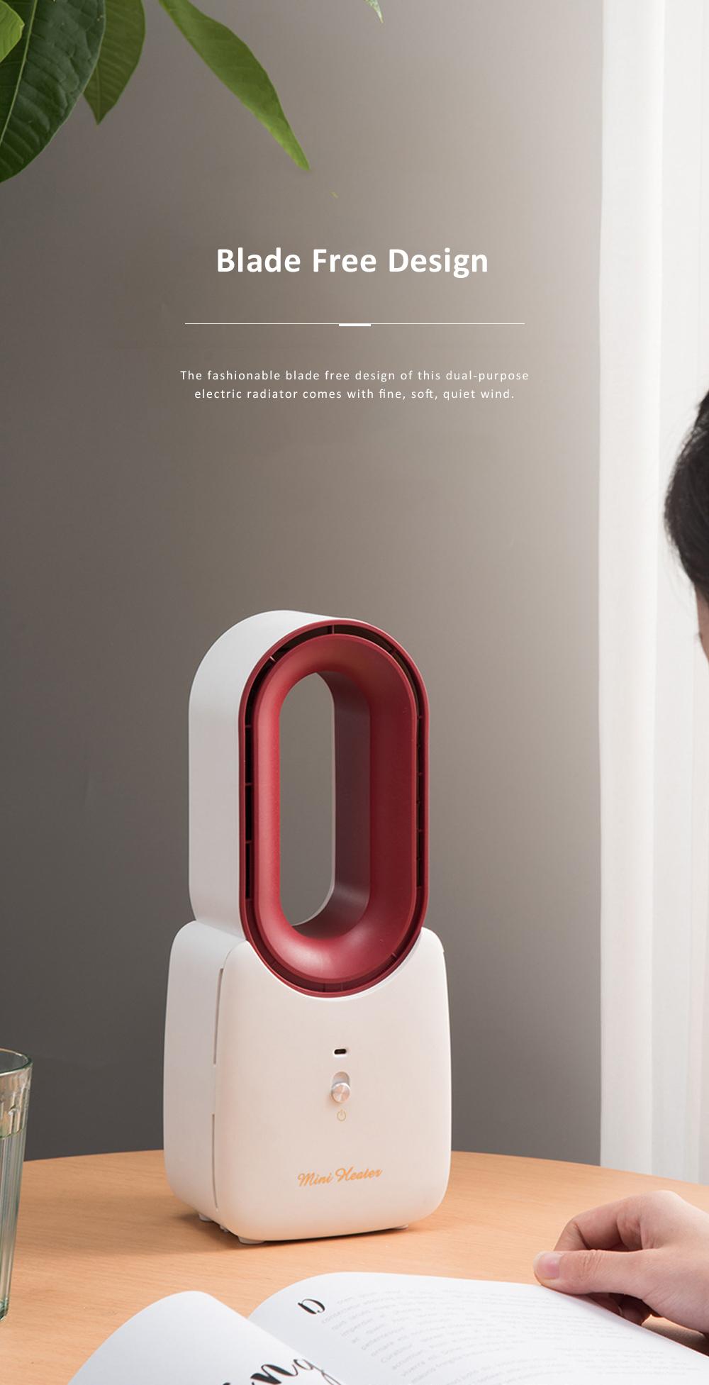 Home Office Desktop Heater for Energy-saving Mini Warmer Blade Free Dual-purpose Electric Radiator 3