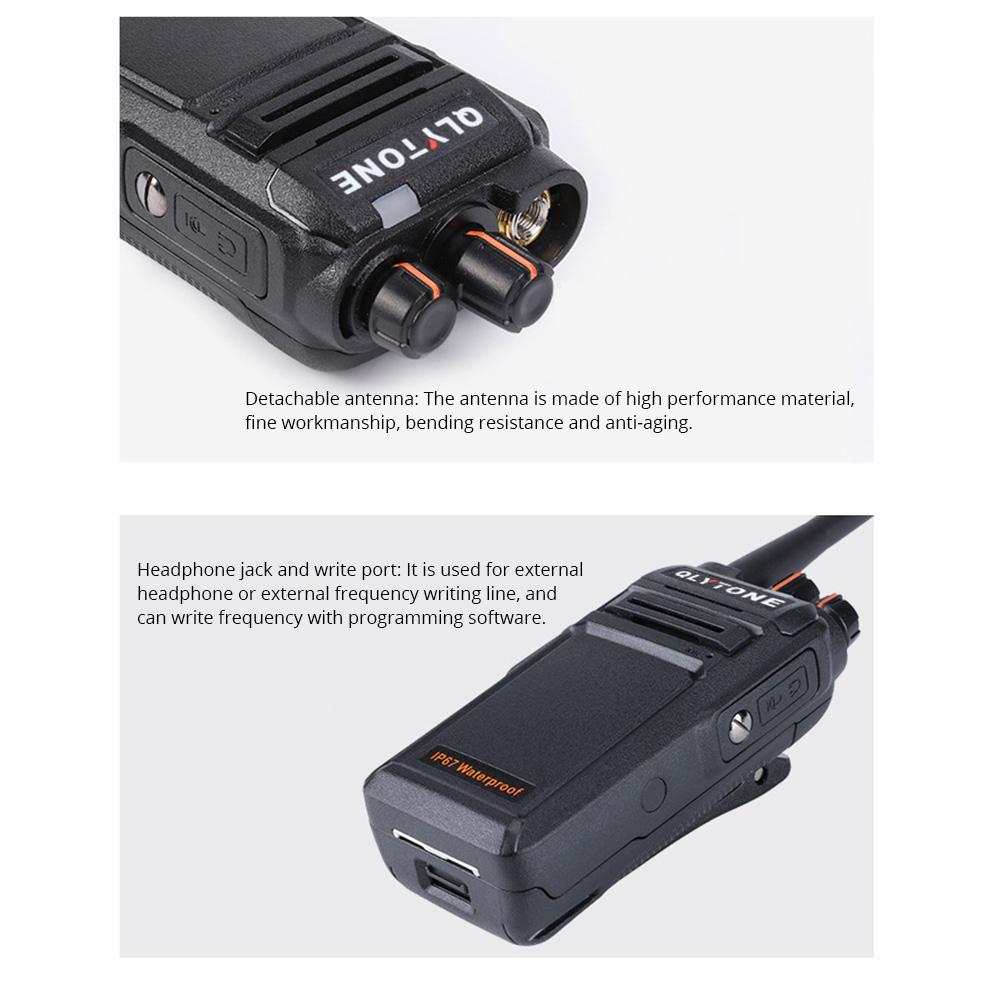 Civil Wireless Walkie-talkie High-power Long-distance Civil Wireless Handset IP67 Waterproof Outdoor Rescue Handset 16