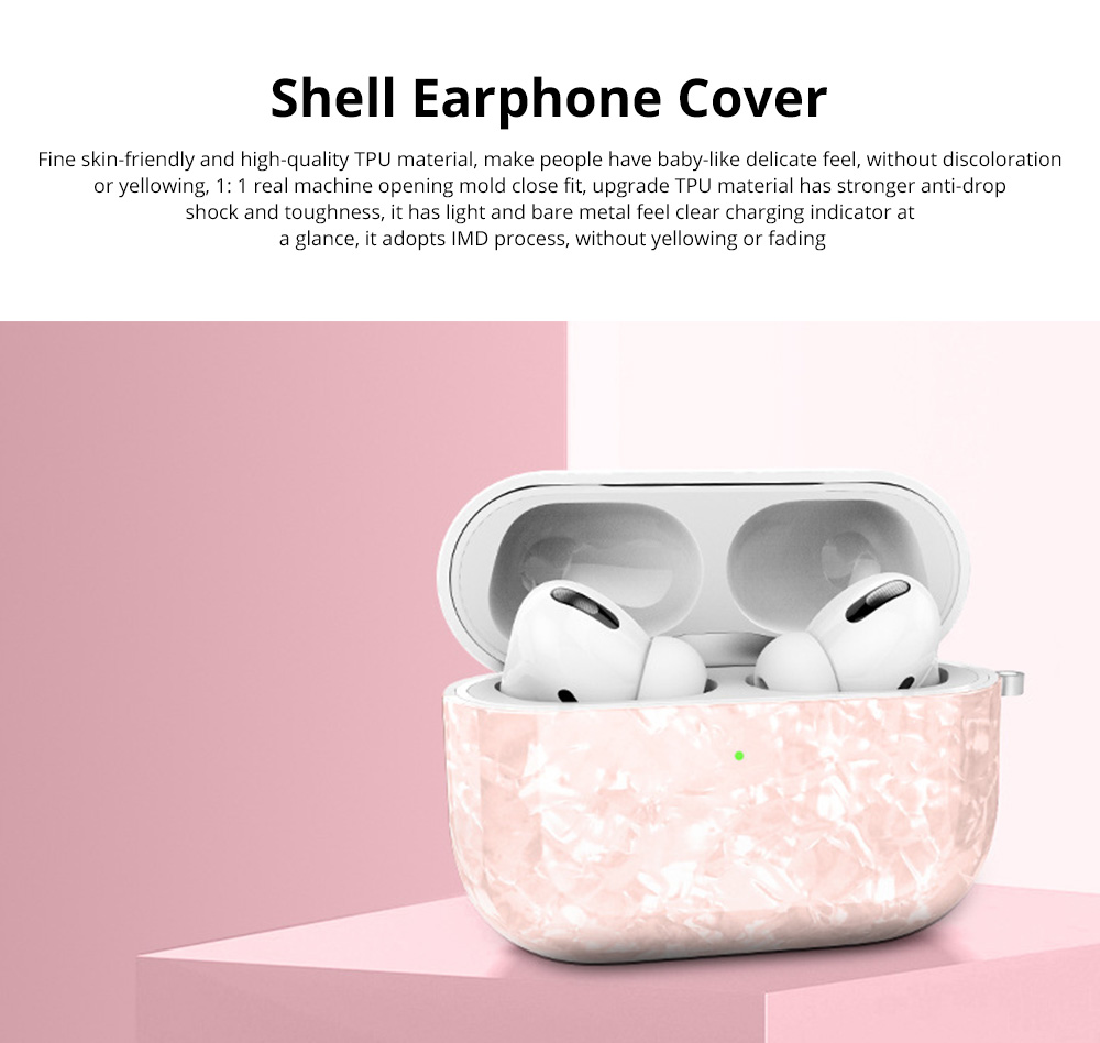 New Design Slim IMD Shell Pattern Shockproof Anti Scratch Protective Fit Soft TPU Bluetooth Earphone Cover Case For Airpods Pro 0