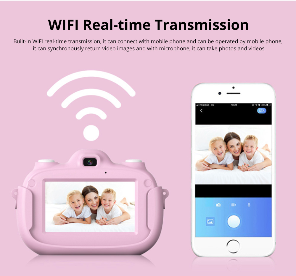 3.0 Inch IPS HD Touch Screen Shockproof Child Digital Selfie HD Camera Camcorder With 28MP Wifi Kids Children Video Camera 6