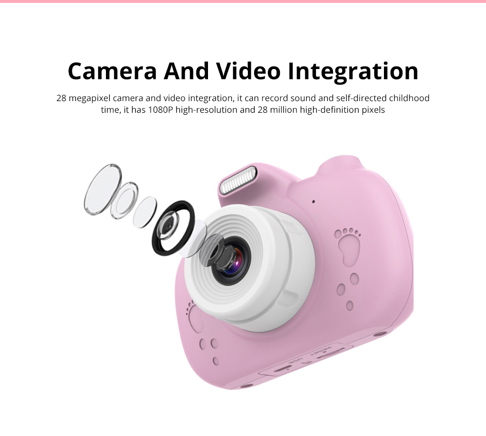 3.0 Inch IPS HD Touch Screen Shockproof Child Digital Selfie HD Camera Camcorder With 28MP Wifi Kids Children Video Camera 4