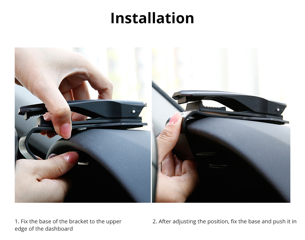VIssko Car Dashboard Mount Phone Clip Stand Suitable for 3.5 to 7 inch Smartphones 360-Degree Rotation Clip Mount Holder 11