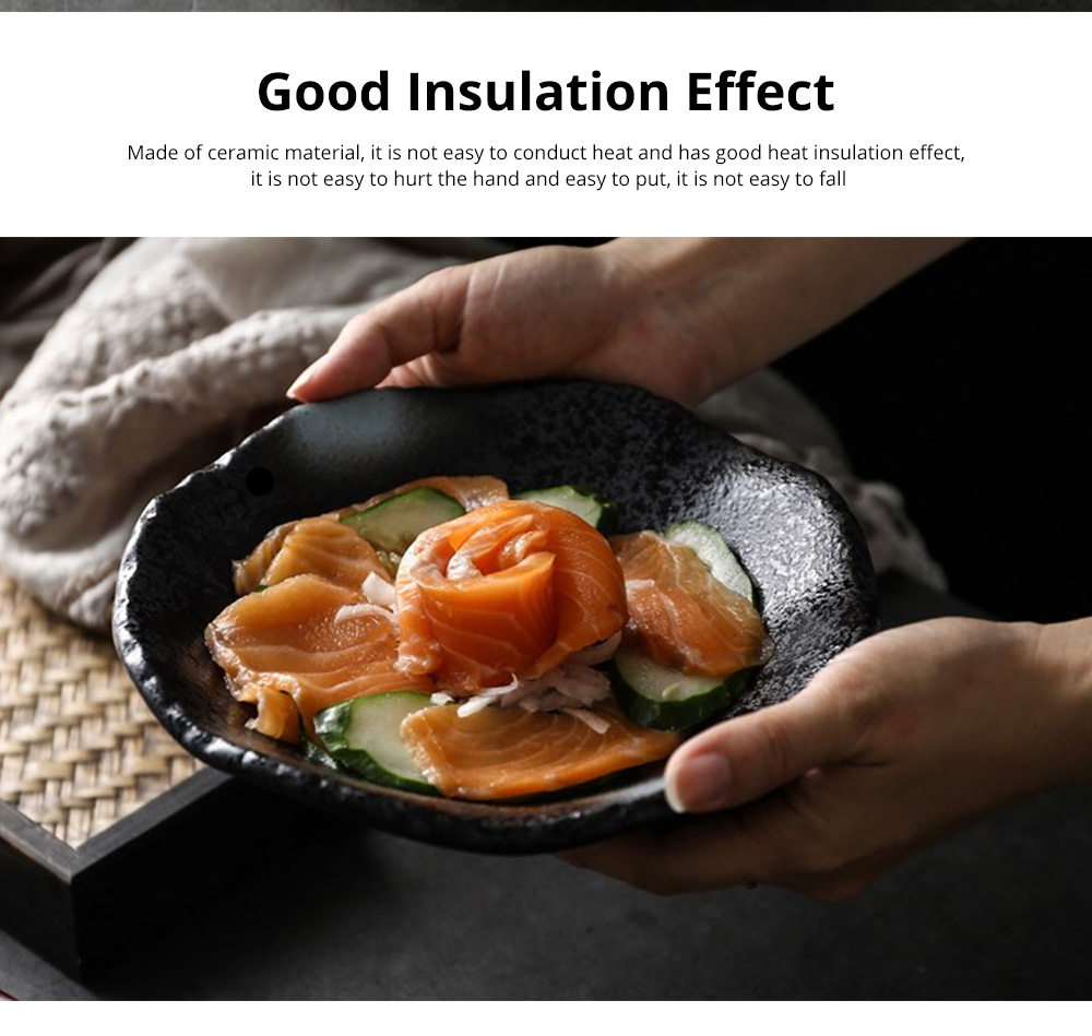 Creative Ceramic Sauce Dishes Seasoning Cuisine Small Ceramic Colorful Retro Dishes Kitchen Dinner Plate 3