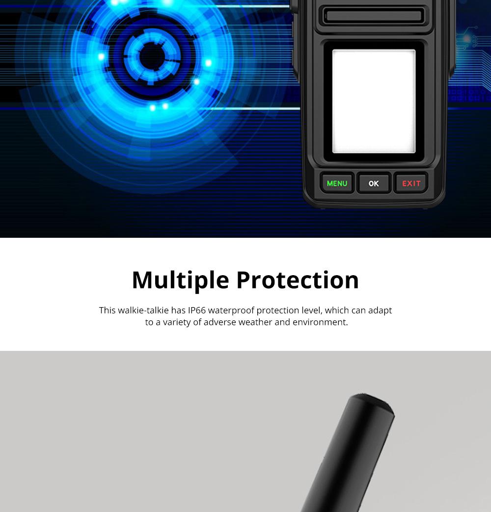 National Walkie-talkie 4G All Network Plug-in Wireless Walkie-talkie 5000 KM Unlimited Distance for Outdoor Handsets Intercom 5