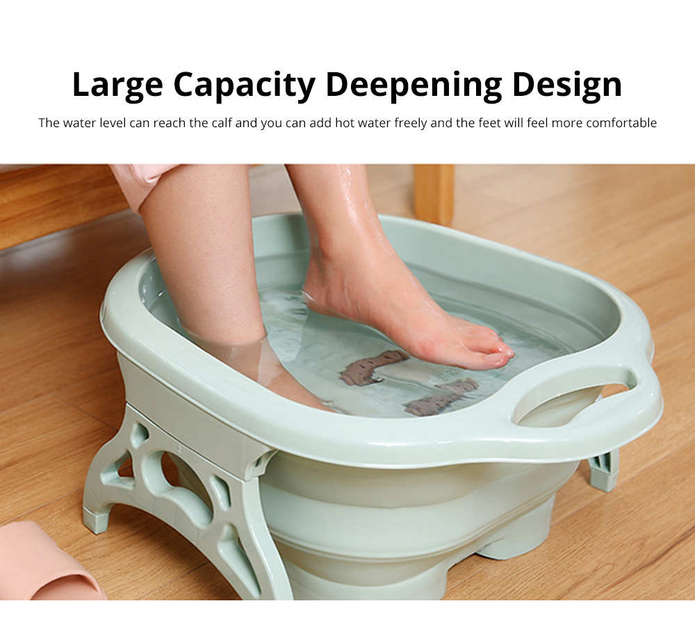 Multi-Function Collapsible Folding Footbath Basin Foot Camping Foldable Foot Bath Tub Silicone Eco-friendly 6