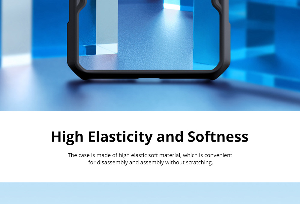 For OnePlus 7T Anti Falling Mobile Phone Case Silicone Shockproof Case with Lanyard Hole 1+ 7T Pro Mobile Phone Full Edge Transparent Protective Case 8