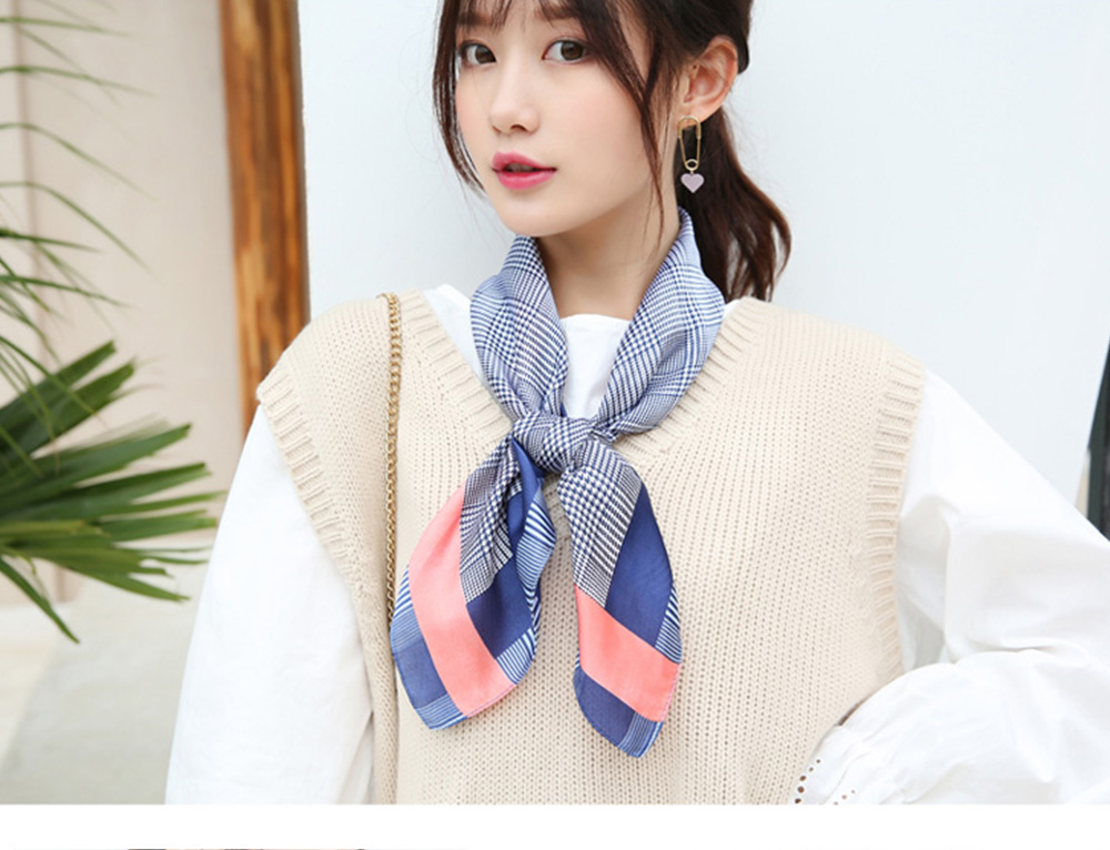 Autumn and Winter Style Fashionable Small Square Scarf Versatile Scarf Neck Protection Korean Small Scarf 8