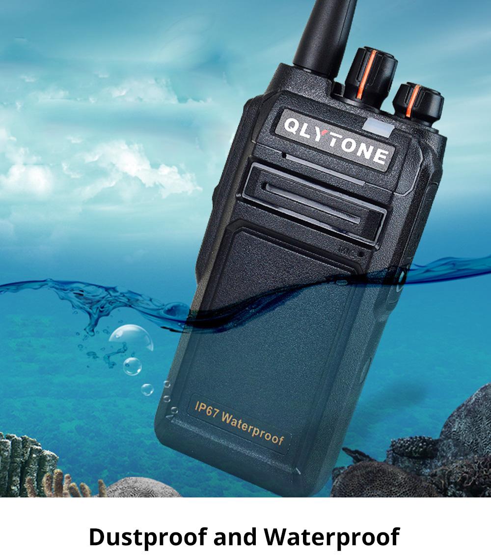 Civil Wireless Walkie-talkie High-power Long-distance Civil Wireless Handset IP67 Waterproof Outdoor Rescue Handset 1