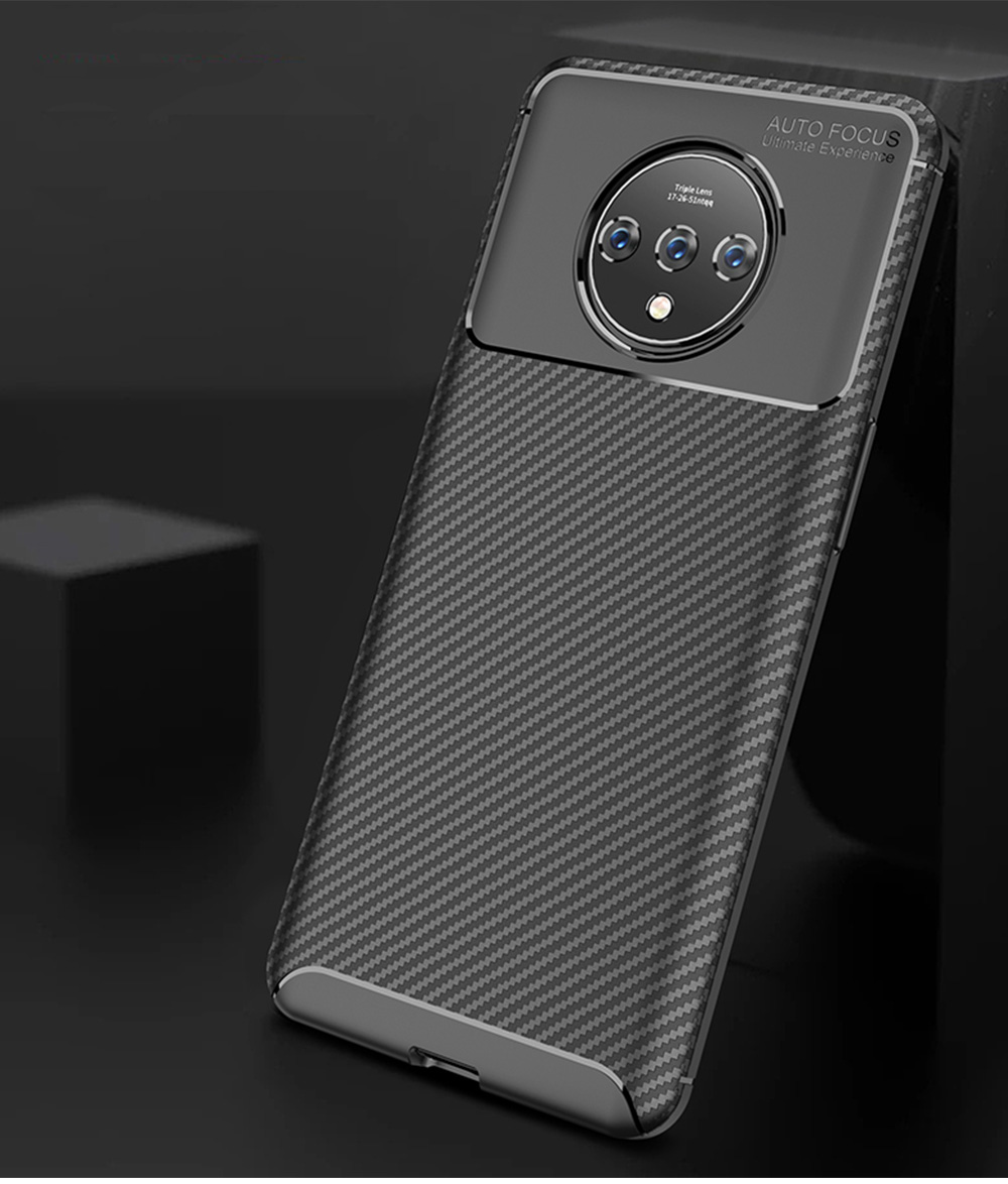 Ultra Slim Fit Phone Case For Oneplus 7t Soft TPU Bump Mobile Phone Case Litchi Leather Pattern Back Cover 2
