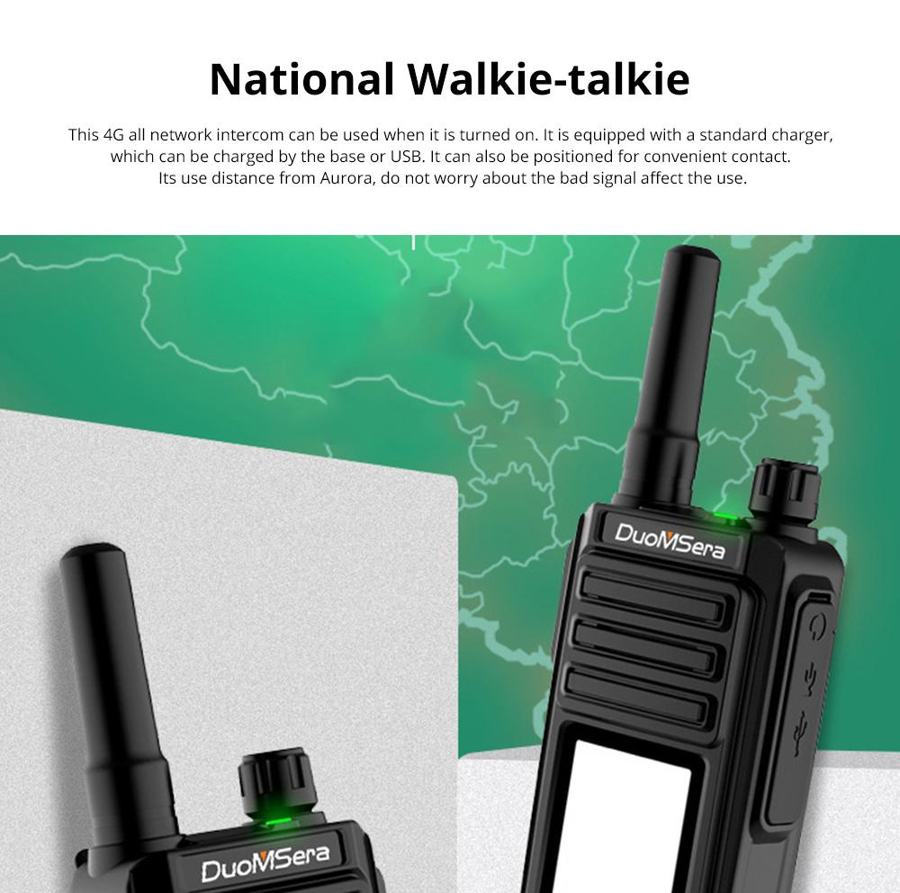 National Walkie-talkie 4G All Network Plug-in Wireless Walkie-talkie 5000 KM Unlimited Distance for Outdoor Handsets Intercom 0