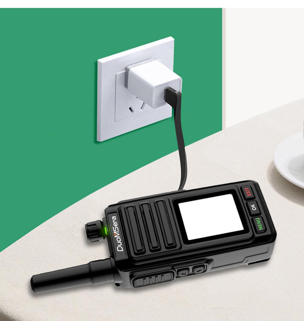 National Walkie-talkie 4G All Network Plug-in Wireless Walkie-talkie 5000 KM Unlimited Distance for Outdoor Handsets Intercom 10