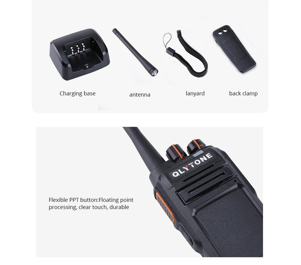 Civil Wireless Walkie-talkie High-power Long-distance Civil Wireless Handset IP67 Waterproof Outdoor Rescue Handset 15