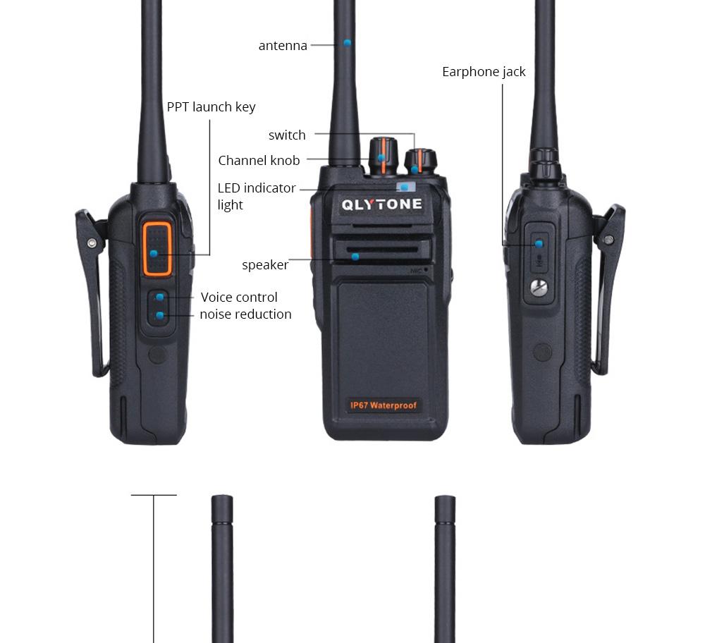 Civil Wireless Walkie-talkie High-power Long-distance Civil Wireless Handset IP67 Waterproof Outdoor Rescue Handset 13