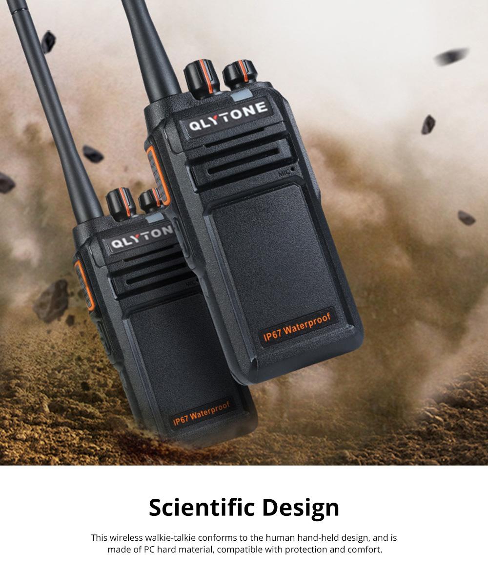 Civil Wireless Walkie-talkie High-power Long-distance Civil Wireless Handset IP67 Waterproof Outdoor Rescue Handset 4