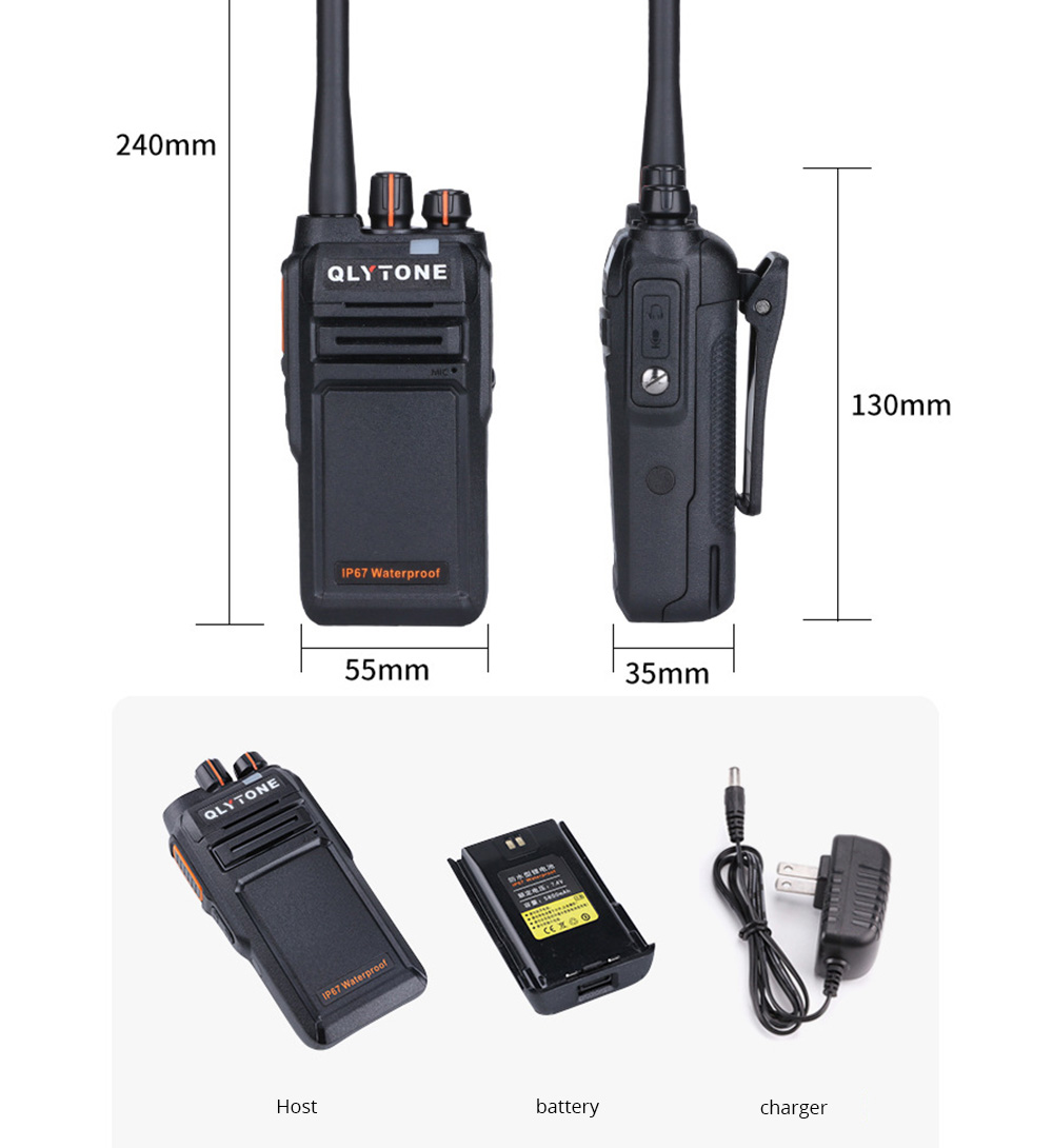 Civil Wireless Walkie-talkie High-power Long-distance Civil Wireless Handset IP67 Waterproof Outdoor Rescue Handset 14