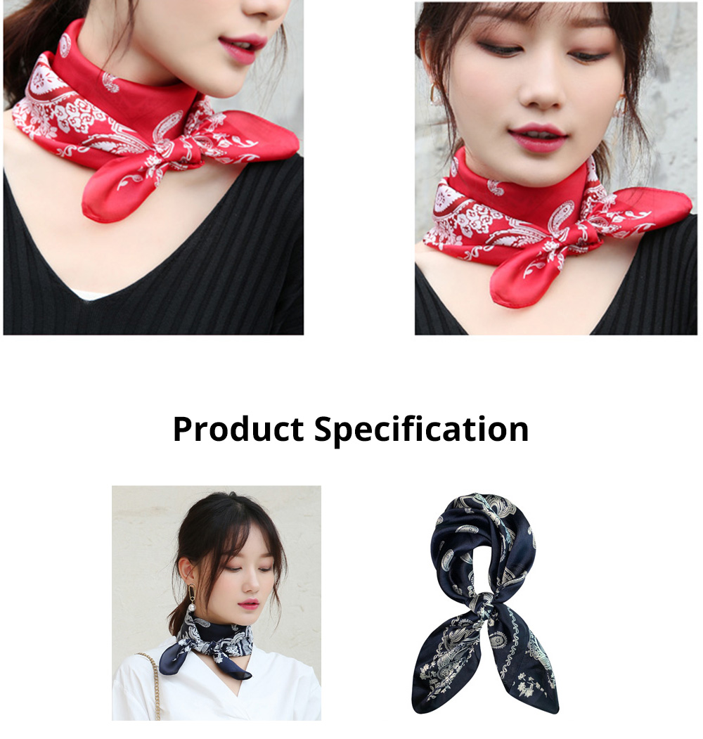 Autumn and Winter Style Fashionable Small Square Scarf Versatile Scarf Neck Protection Korean Small Scarf 11