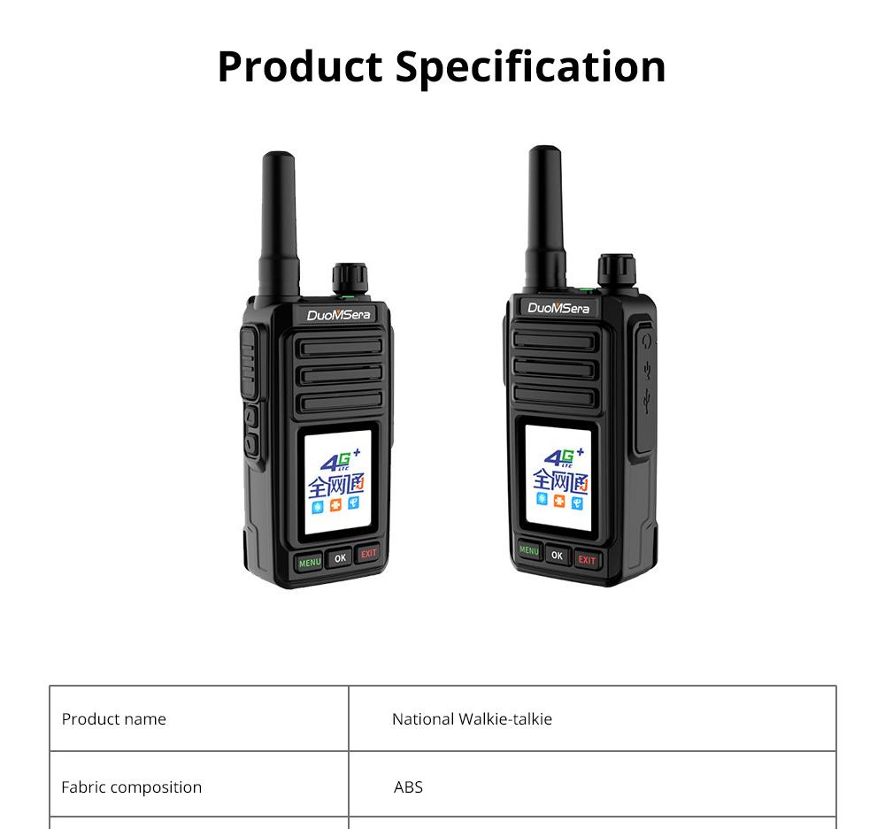 National Walkie-talkie 4G All Network Plug-in Wireless Walkie-talkie 5000 KM Unlimited Distance for Outdoor Handsets Intercom 14