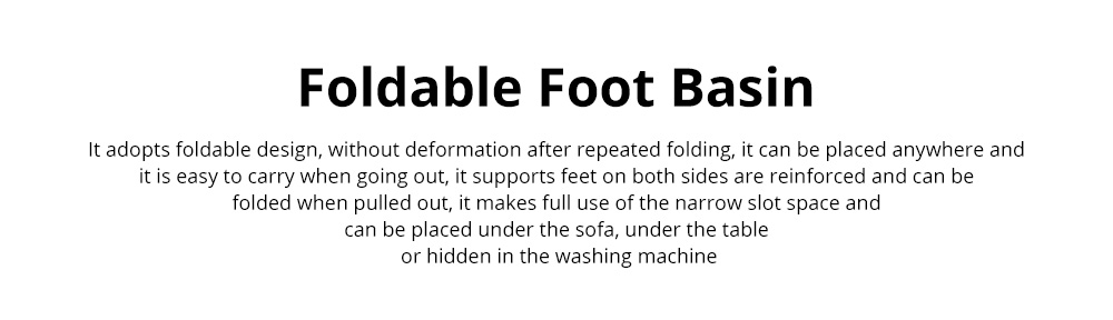 Multi-Function Collapsible Folding Footbath Basin Foot Camping Foldable Foot Bath Tub Silicone Eco-friendly 0