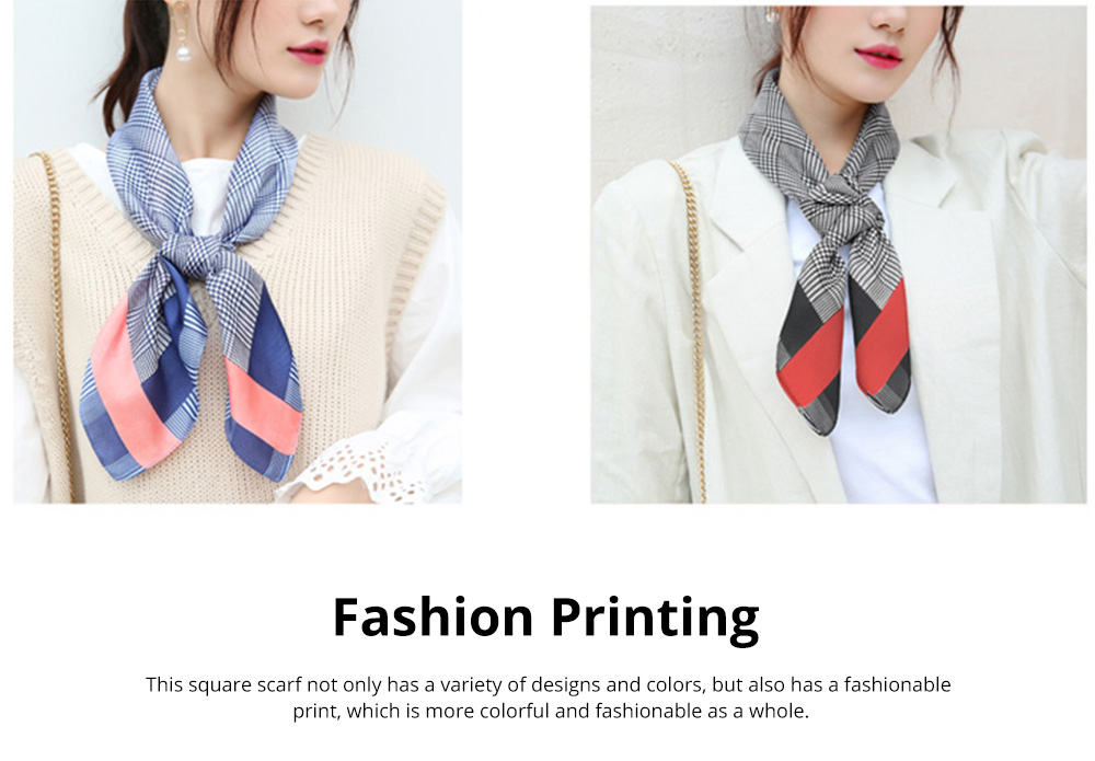 Autumn and Winter Style Fashionable Small Square Scarf Versatile Scarf Neck Protection Korean Small Scarf 9