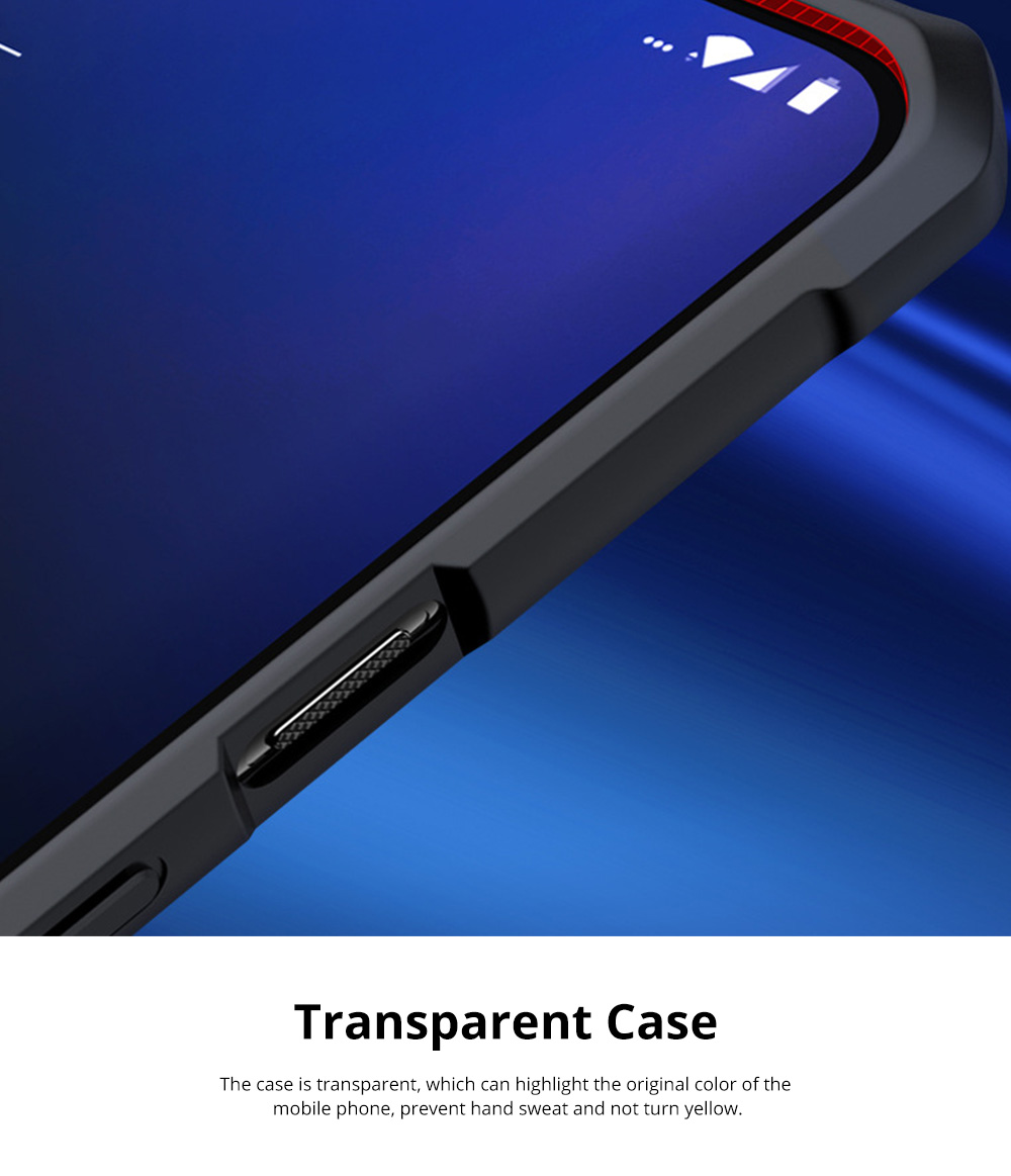 For OnePlus 7T Anti Falling Mobile Phone Case Silicone Shockproof Case with Lanyard Hole 1+ 7T Pro Mobile Phone Full Edge Transparent Protective Case 6