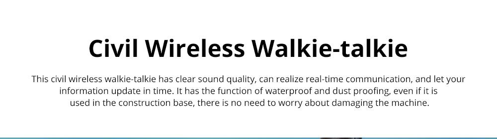 Civil Wireless Walkie-talkie High-power Long-distance Civil Wireless Handset IP67 Waterproof Outdoor Rescue Handset 0