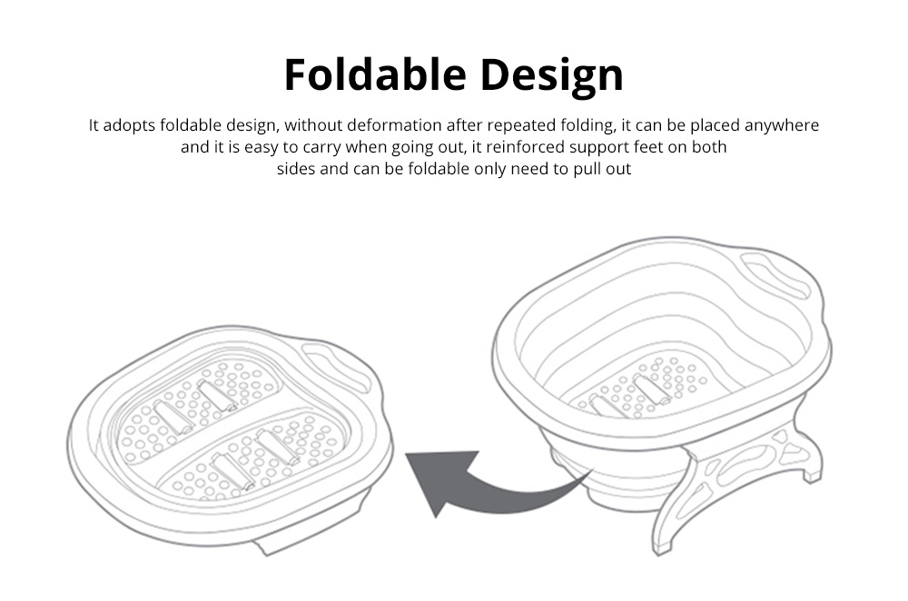 Multi-Function Collapsible Folding Footbath Basin Foot Camping Foldable Foot Bath Tub Silicone Eco-friendly 2