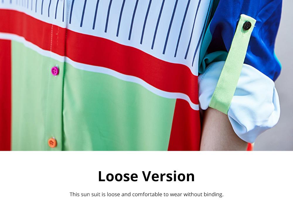 ZVBV 2020 Spring New Loose Korean Fashion Half Sleeve Sun Proof Shirt Fashionable Women's Wear Personalized Leisure Medium Long Shirt 6