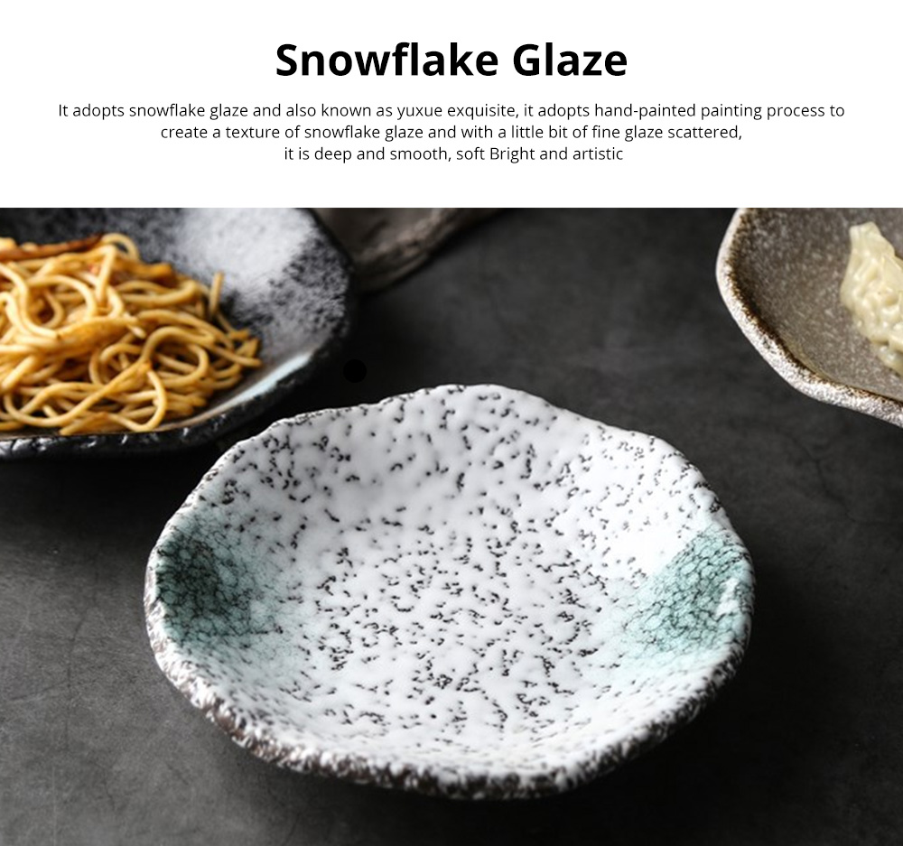 Creative Ceramic Sauce Dishes Seasoning Cuisine Small Ceramic Colorful Retro Dishes Kitchen Dinner Plate 2