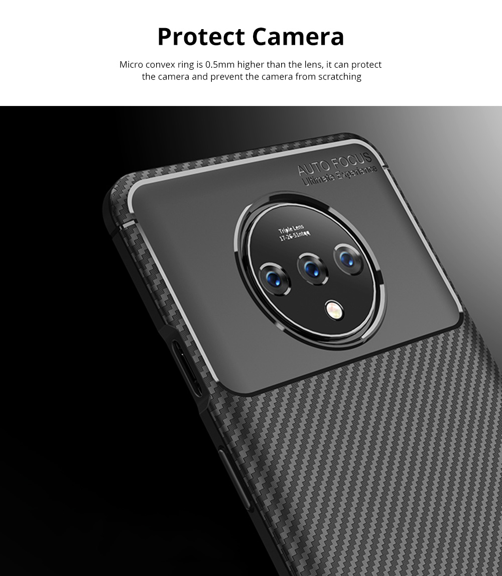 Ultra Slim Fit Phone Case For Oneplus 7t Soft TPU Bump Mobile Phone Case Litchi Leather Pattern Back Cover 3