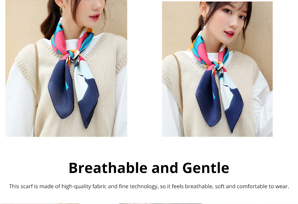 Autumn and Winter Style Fashionable Small Square Scarf Versatile Scarf Neck Protection Korean Small Scarf 7