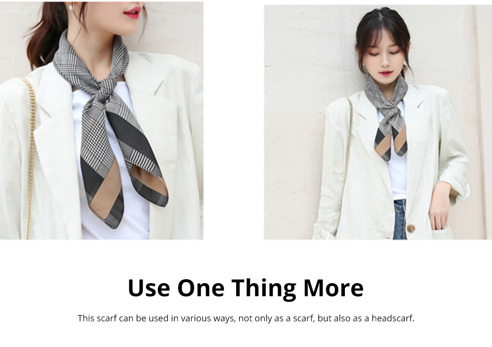 Autumn and Winter Style Fashionable Small Square Scarf Versatile Scarf Neck Protection Korean Small Scarf 5
