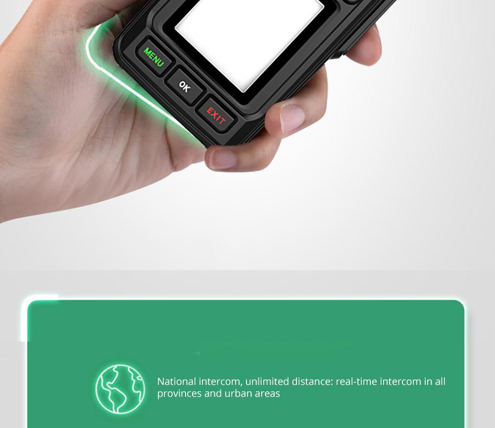 National Walkie-talkie 4G All Network Plug-in Wireless Walkie-talkie 5000 KM Unlimited Distance for Outdoor Handsets Intercom 8